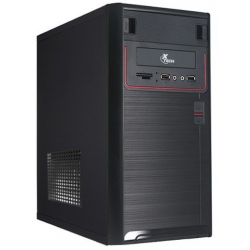 Gabinete Xtech Black & Red USB Frontal 600W