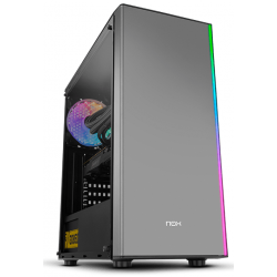 Gabinete NOX Infinity Atom RGB Tempered Glass