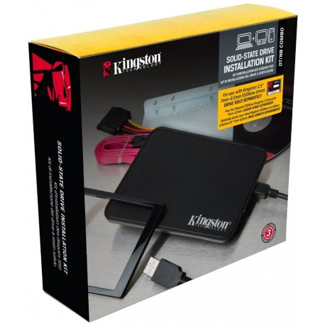 "Kit Instalación SSD Kingston 2.5"" a 3.5"" + Cofre USB 2.0, cables, software"